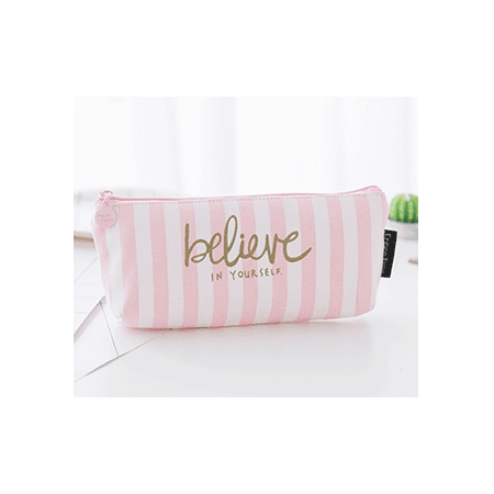 Clearance!!! Coofit Cute Pink Zipper Pencil Case Pencil Pouch School Learning Gifts for Kids Girls - Cute Pencil Case