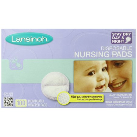 Contoured Disposable Breast Pads - Lansinoh Disposable Nursing Pads - 100 Count