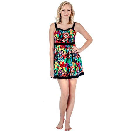 Marvel Super Heroes All Over Sweetheart Dress