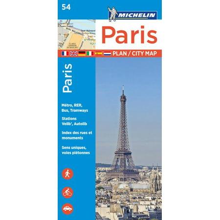 Michelin Paris Street Map + Index Map 54 - Folded