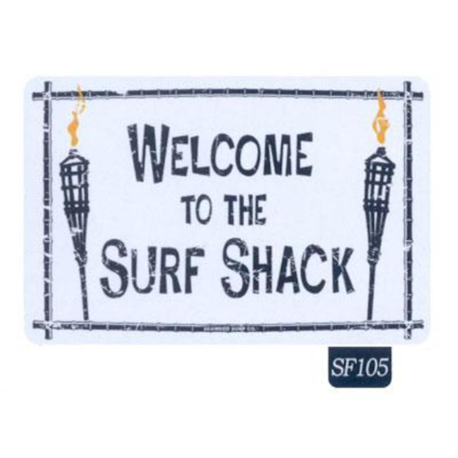 Seaweed Surf Co SF105 12X18 Aluminum Sign Welcome To Out Surf Shack