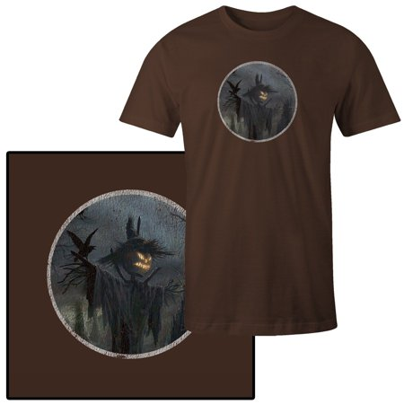 d54c5d507ef0f Men's Halloween Scarecrow Scary T-Shirt