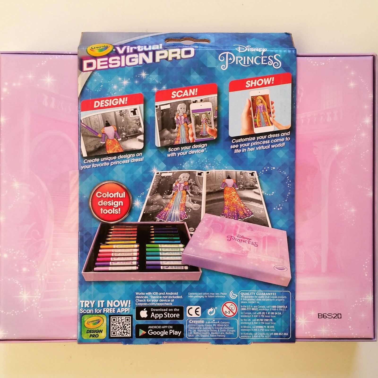 Crayola Virtual Design Pro Disney Princess Coloring Book Coloring Kit Walmart Com Walmart Com