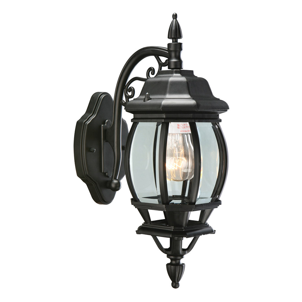 Design House 505545 Cantebury 1-Light Indoor/Outdoor Wall Light, Black