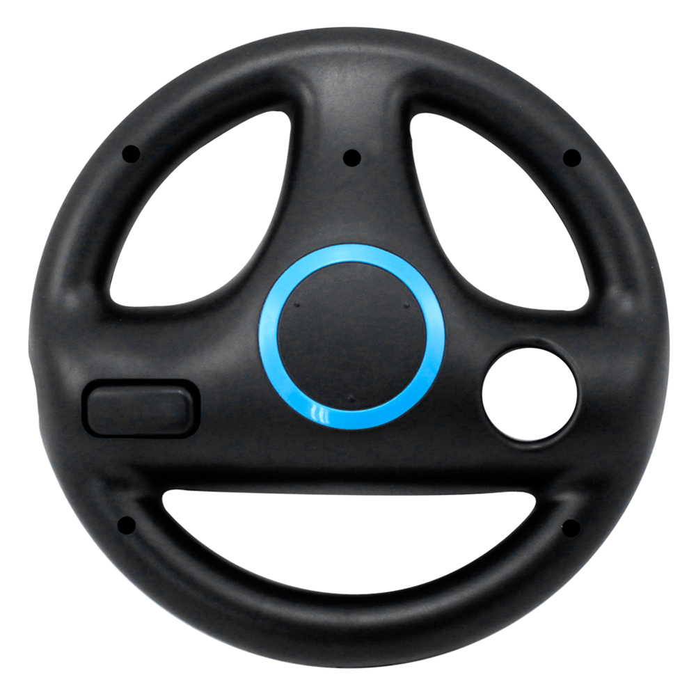 Steering Wheel for Nintendo Wii Remote Plus Controller, Ideal for Mario Kart Racing Driving Games Black