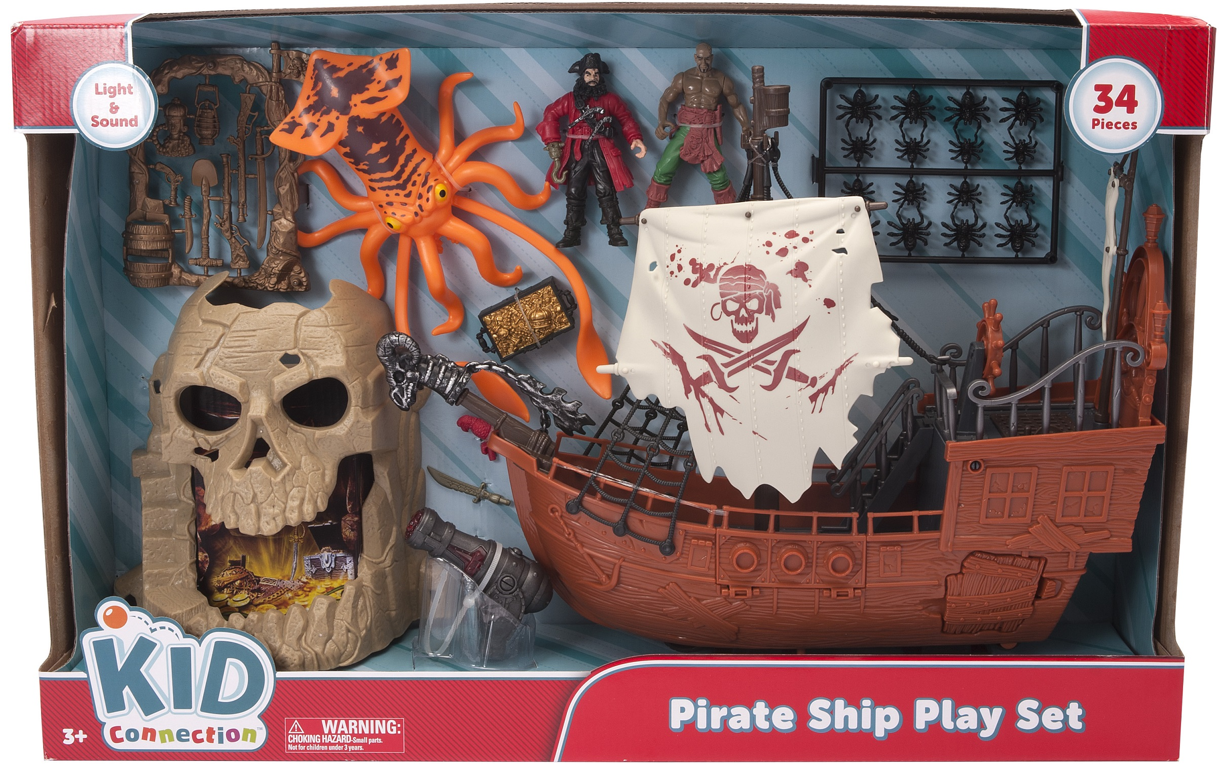 Kid Connection Pirate Captain Ship Playset by Chap Mei Plastic Toys Mfy Ltd.
