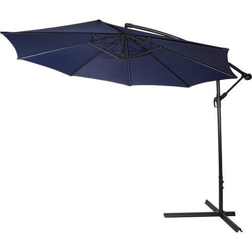 Deluxe Polyester Offset Patio Umbrella 10' By Trademark Innovations (Tan) by Trademark Innovations