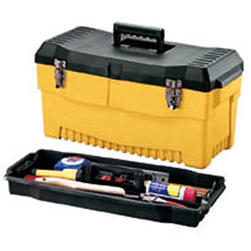 "Stack-On 23"" Professional Tool Box, Yellow"