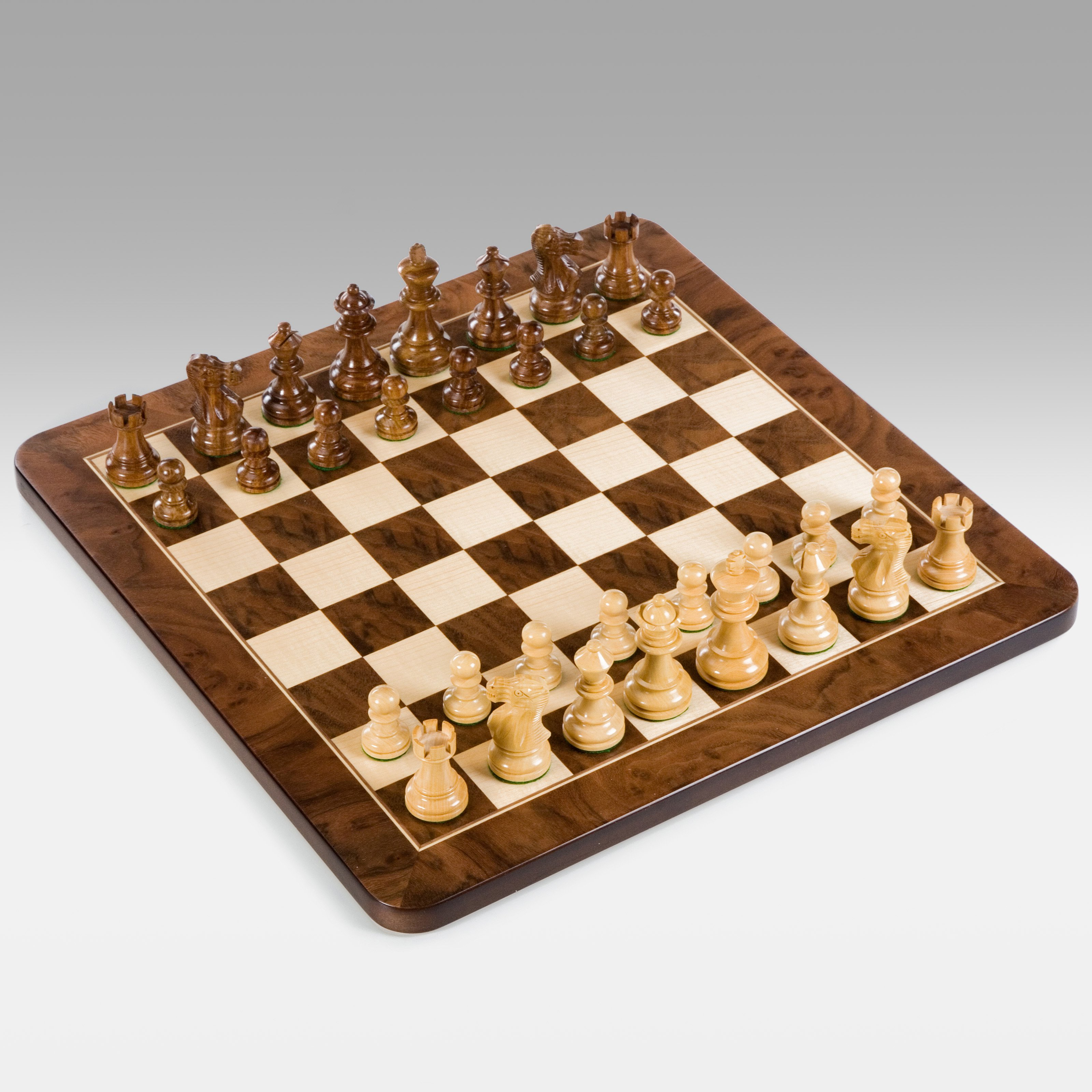 16-Inch English Wood Chess Set by Wood Expressions