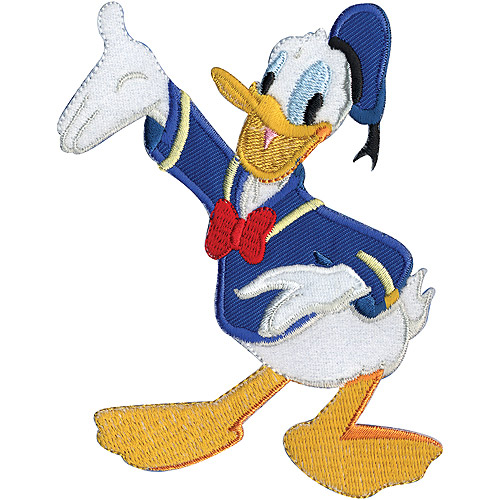 "Wrights Disney Iron-On Applique, 4-1/2"" x 3-1/2"", Donald Duck"