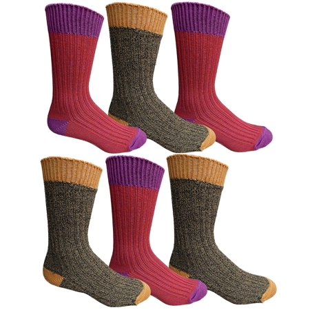 Yacht & Smith 6 Pairs Of Mens Premium Winter Wool Socks With Cable Knit Design (Assorted E)