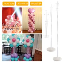 Table Balloon Stand Kit for Birthday Party Decoration and Wedding Decoration, Happy Birthday Balloons Decoration for Party and Christmas Decoration -5.3/4.3/2.3 Ft