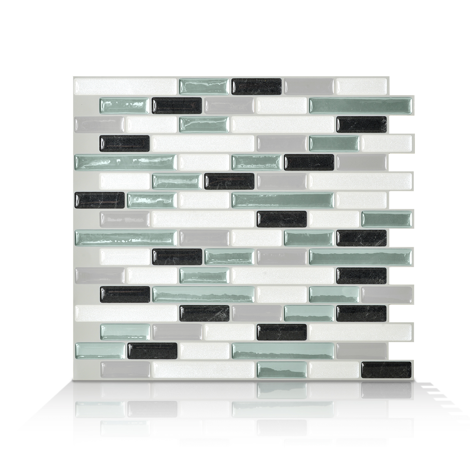 Smart Tiles 10.20 in x 9.10 in Peel and Stick Self-Adhesive Mosaic Backsplash Wall Tile - Muretto Prairie (each)