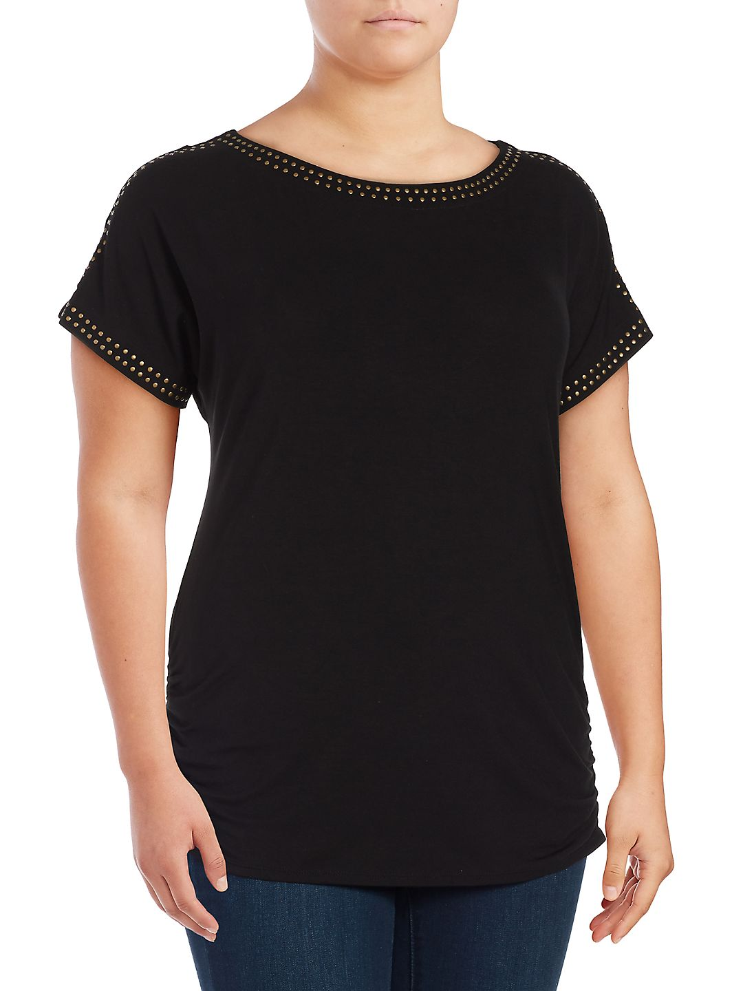 Plus Heat Organic Ruched Tee