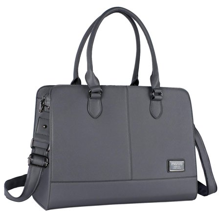 Laptop Bags Totes - Mosiso Women Laptop Tote Bag (Up to 15.6 Inch) Premium PU Leather Large with 3 Layer Compartments Business Work Travel Shoulder Briefcase Handbag