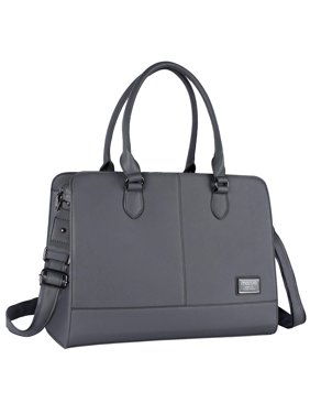 Mosiso Women Laptop Tote Bag (Up to 15.6 Inch) Premium PU Leather Large with 3 Layer Compartments Business Work Travel Shoulder Briefcase Handbag