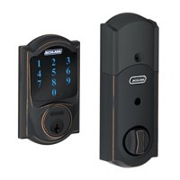 Schlage BE469VCAM716 Aged Bronze Connect Camelot Touchscreen W/Built-In Alarm & Z-Wave