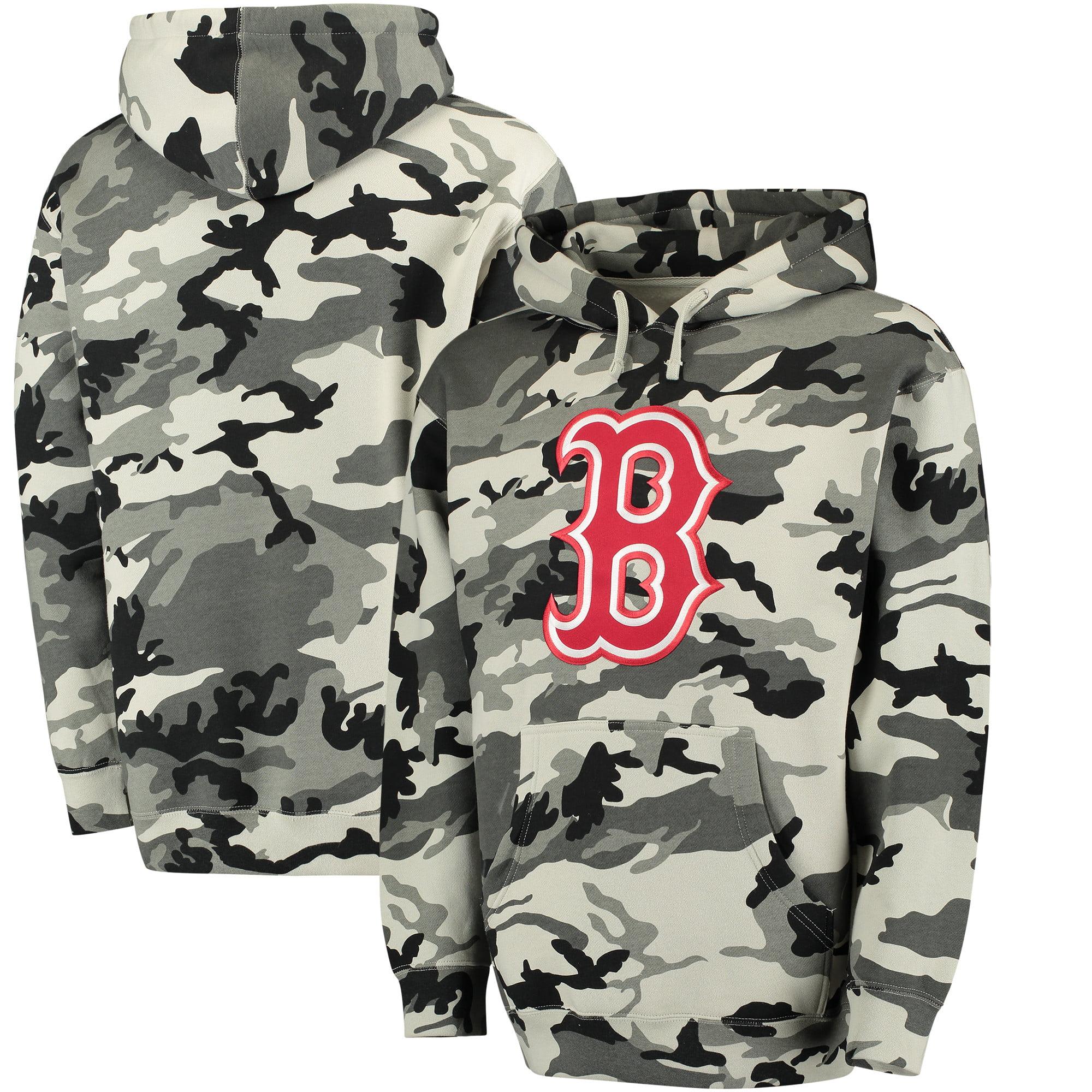 Boston Red Sox Stitches Pullover Hoodie - Black/Camo