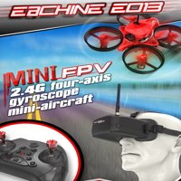 5.8G 1000TVL 40CH Camera Eachine E013 Micro FPV Racing Quadcopter RC Drone VR006 VR-006 3 Inch Goggles