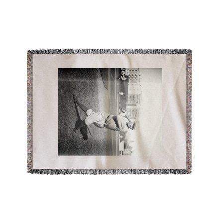 Pete Compton, St. Louis Browns (Orioles), Baseball Photo (60x80 Woven Chenille Yarn Blanket)