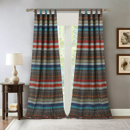 Barefoot Bungalow Brooklyn Striped Curtain Panel Pair