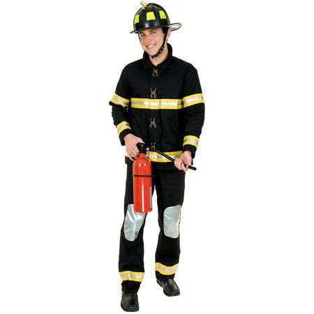 Fireman Outfit For Adults (Fireman Adult Costume - Plus Size)