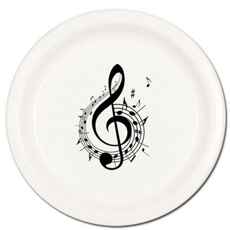 MUSIC NOTE TREBLE DINNER PLATE - Music Note Plates