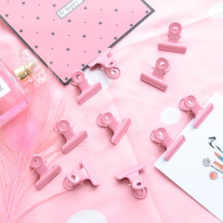 Fashion Cute Pink Metal Binder Clip for Note Photo Paper Postcard Storage