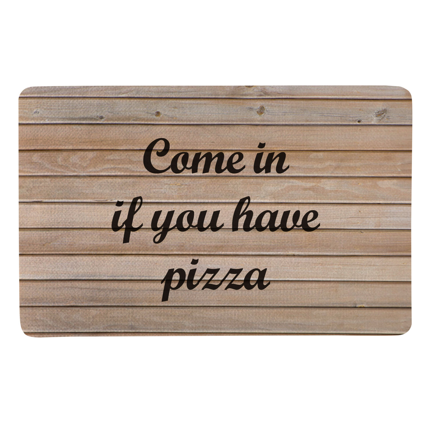 Personalized Create Your Own Doormat - Light Wood - Script