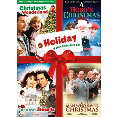 Holiday Four Film Collectors Set  Christmas In Wonderland   A Hobos Christmas   Borrowed Hearts   The Man Who Saved