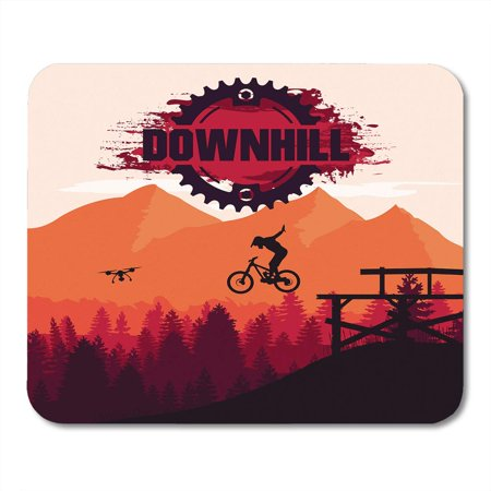 SIDONKU Bike Mountain Biking Downhill Freeride Extreme Sport Cliff Action Active Mousepad Mouse Pad Mouse Mat 9x10 inch