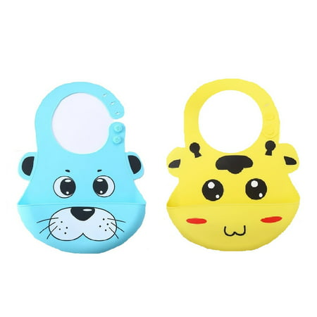 (Pack of 2) Most Hygenic Silicone Baby Bib with Cute Characters, Blue Panda + Yellow Cow by Baby Classic + Cat Line Makeup Tutorial](Cute Cat Makeup Tutorial Halloween)
