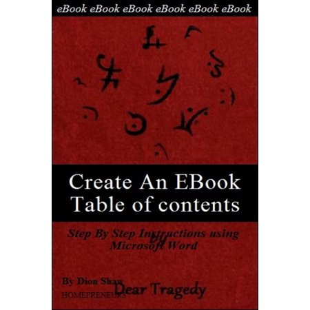 Create An EBook Table Of Contents in Microsoft Word -