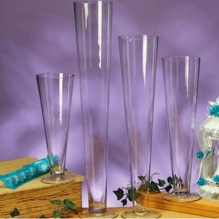 Large Centerpiece Ideas (Large Glass Clear 20 inch Trumpet Vase Centerpiece Wedding Birthday All)