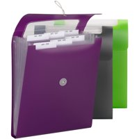 Smead Campus.org Vertical Step Index Poly Organizer 70918, 6 Pockets, Flap and Cord Closure