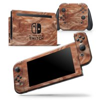 Modern Marble Copper Metallic Mix V7 - Skin Wrap Decal Compatible with the Nintendo Switch Dock Only