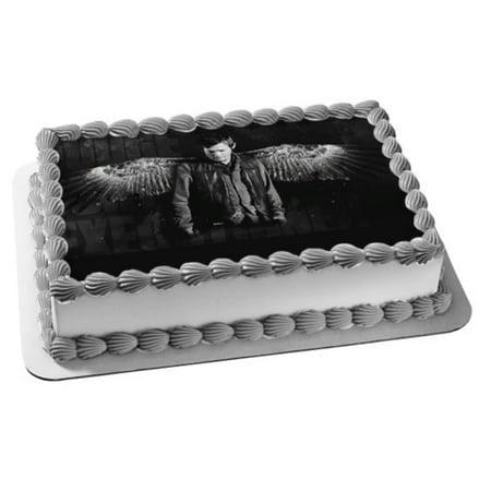Grateful Dead Birthday Cake (The Walking Dead Daryl Angel Wings Edible Cake Topper)
