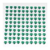 BalsaCircle 600 pcs Heart Shaped Gem Stickers - Wedding Party Favors Decorations DIY Craft Supplies