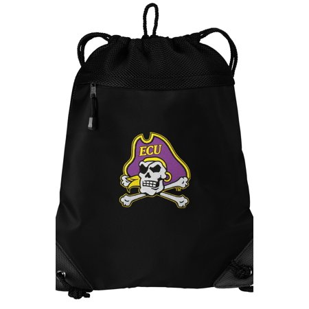 East Carolina University Drawstring Bag TWO SECTION ECU Cinch Pack Backpack - Unique Mesh & Microfiber