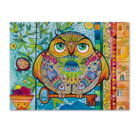 Trademark Fine Art 'Judaica Folk Owl' Canvas Art by Oxana Ziaka ()