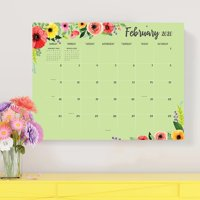 2020 Classic Floral Large Desk Pad Calendar 22x17 Monthly Blotter - for Home Office, Mom, Family Planning
