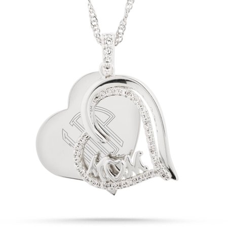 Sterling Silver Mop - Sterling Silver Mom Swing Necklace