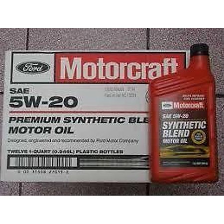 Motorcraft sae 5w20 synthetic blend motor oil 12 quart for Motorcraft synthetic blend motor oil