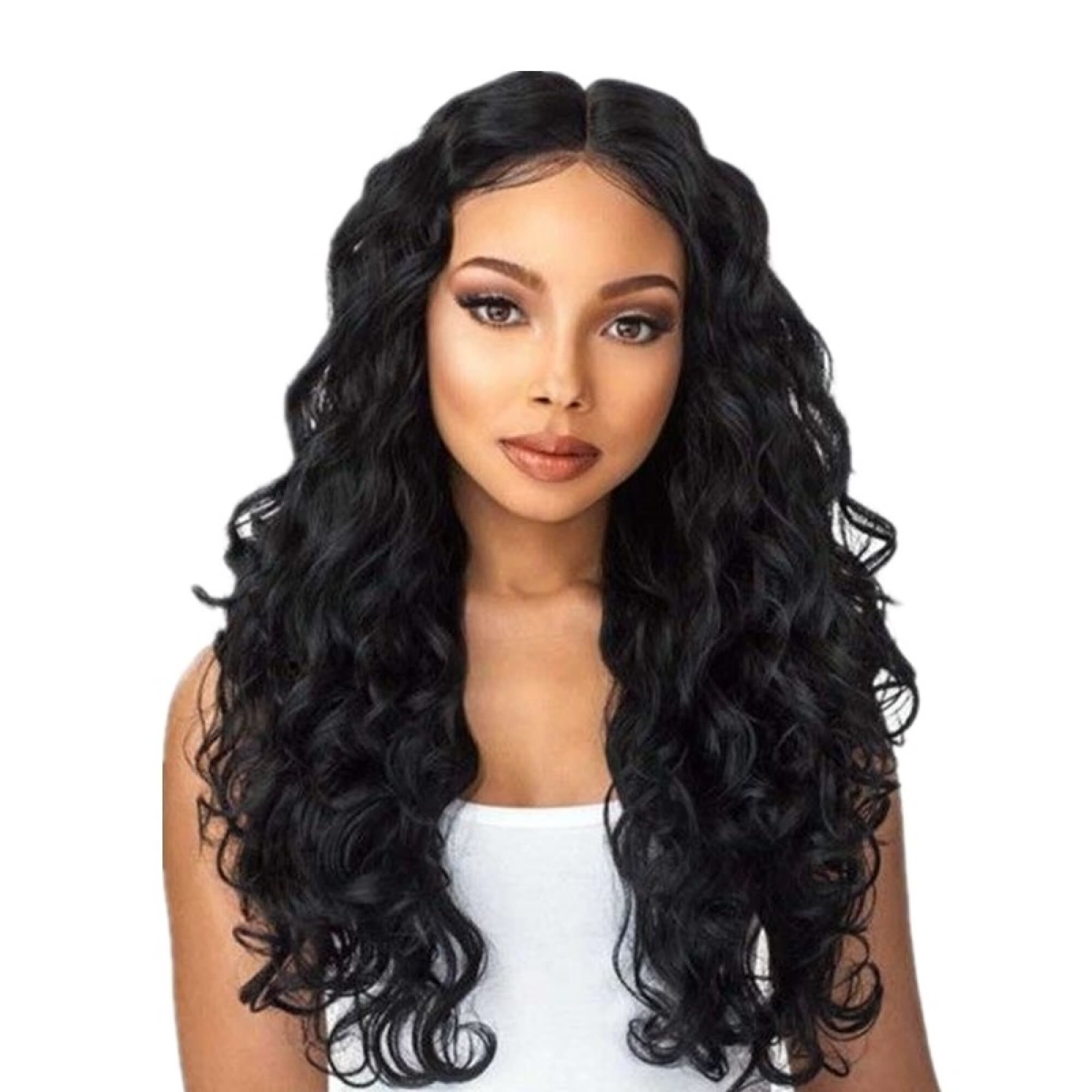 """Amazing Star Sythetic Hair Full Cap Wig Loose Curly Wigs Black Color Hair for Fashion Women, 24"""""""