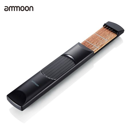 ammoon Portable Pocket Acoustic Guitar Practice Tool Gadget Chord Trainer 6 String 6 Fret Model for (Best Guitar Practice Tools)