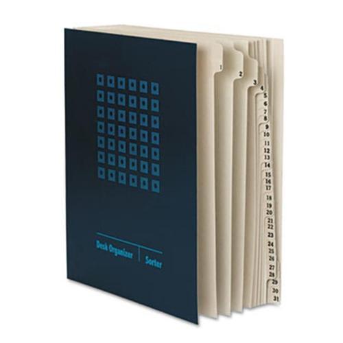 Smead 89294 Desk File Sorter  Top Tab  Daily Index  Dark Blue  1-EA