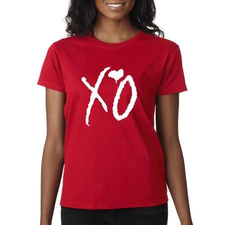 New Way 763 - Women's T-Shirt XO The Weeknd Weekend Whiteout XL Red