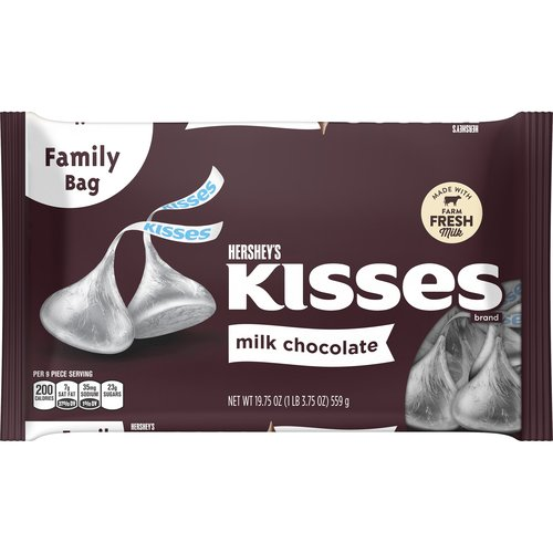 Kisses Milk Chocolate Candy, 19.75 oz