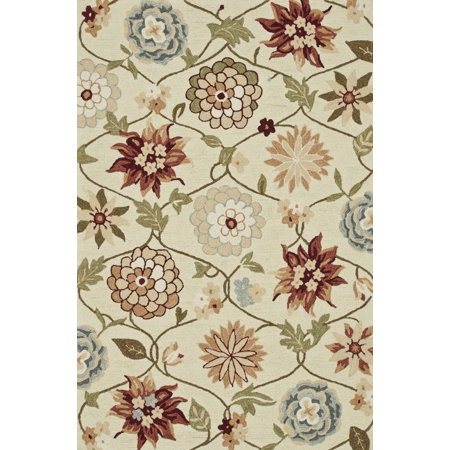 Contemporary Summerton Collection Area Rug In Ivory Floral