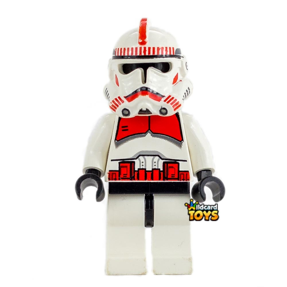 "LEGO Star Wars Clone Trooper, Ep. 3, Red Markings ""Shock Trooper"" Minifigure"